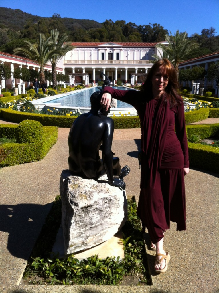 Rachel Elnaugh at Getty Villa
